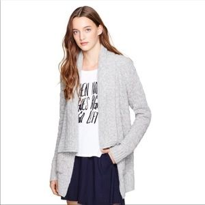 Aritzia Gray Knitted Cashmere Blend Cardigan
